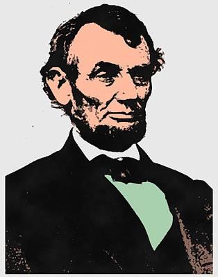 Republicans Mixed Media - Abe Lincoln 2 by Otis Porritt