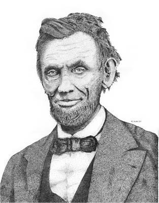 Emancipation Proclamation Drawing - Abe Lincoln by Kaz Ayukawa