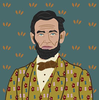 Potus Digital Art - Abe Lincoln by Nicole Wilson