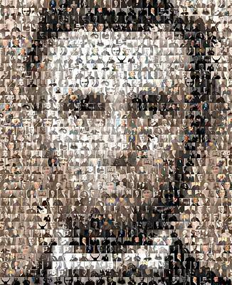 Politicians Royalty-Free and Rights-Managed Images - Abe Lincoln Presidents Mosaic by Paul Van Scott