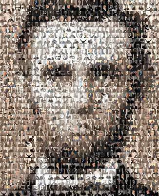 Politicians Digital Art - Abe Lincoln Presidents Mosaic by Paul Van Scott