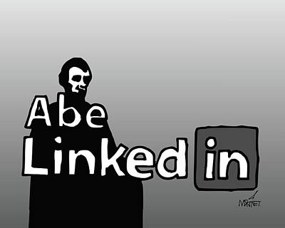 Digital Art - Abe Linkedin by Mike Martinet