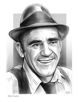 Drawings - Abe Vigoda by Greg Joens