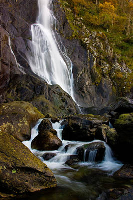 Photograph - Aber Falls 2 by Peter OReilly