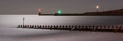 Photograph - Aberdeen Beach At Night _ Pano by Veli Bariskan