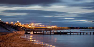 Photograph - Aberdeen Beach At Night - Pano by Veli Bariskan