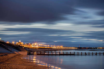 Photograph - Aberdeen Beach At Night by Veli Bariskan