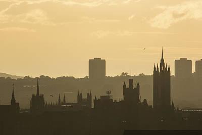 Photograph - Aberdeen Skyline Silhouettes by Veli Bariskan