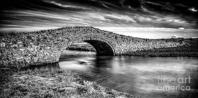 White River Digital Art - Aberffraw Bridge V2 by Adrian Evans