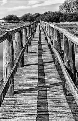 Rickety Bridge Photograph - Aberlady Bay Bridge by Michelle Bailey