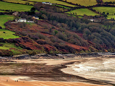 Modern Man Surf Royalty Free Images - Aberporth Bay Royalty-Free Image by Mark Llewellyn