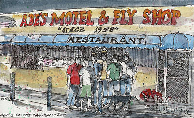 Abes Motel And Fly Shop Art Print by Tim Oliver