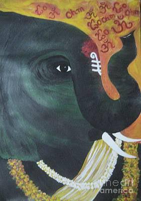 Painting - Abhaya Ganapathi by Usha Rai