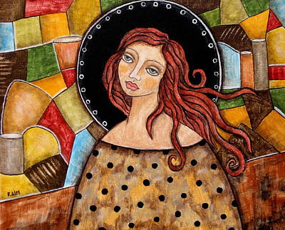 Christian Art . Devotional Art Painting - Abigail by Rain Ririn