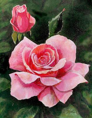 Abigail Rose Art Print by Edward Farber