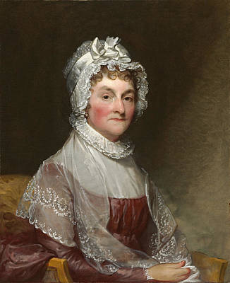 Painting - Abigail Smith Adams by Gilbert Stuart