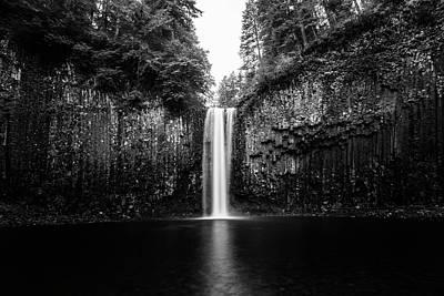 Abiqua Falls Black And White Art Print by Pelo Blanco Photo