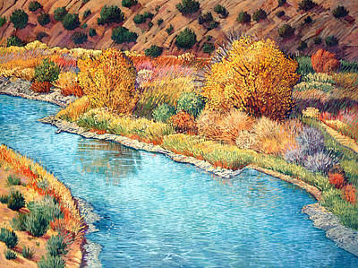 Chama River Painting - Abiquiu Dreaming by Donna Clair