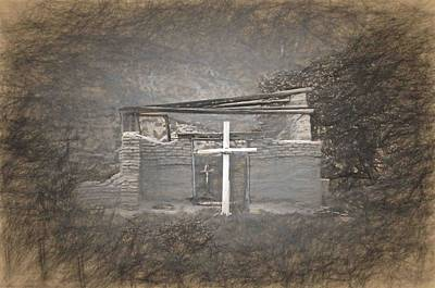 Abiquiu Nm Church Ruin Art Print