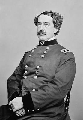 American Civil War Photograph - Abner Doubleday  by War Is Hell Store