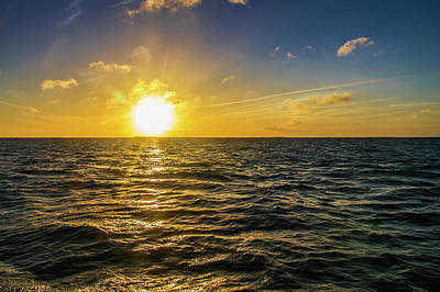 Photograph - Aboard A Danger Charter Sunset Cruise In Key West by Bob Slitzan