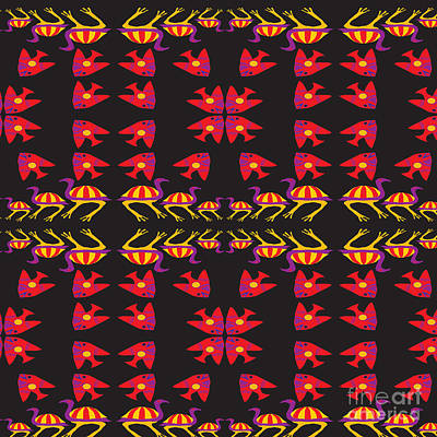 Emu Digital Art - Aboriginal 01 by Iara Falcao Lindback