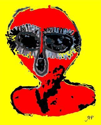 Paranormal Digital Art - Aboriginal Alien by Raphael Terra
