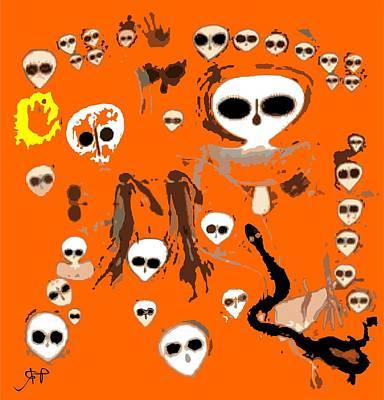 Paranormal Digital Art - Aboriginal Aliens  by Raphael Terra