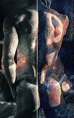 Nude Male Digital Art - Aboriginal At Twilight by David Derr