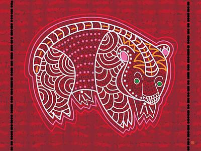 Painting - Aboriginal Bear by Gary Grayson