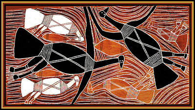 Aboriginal Birds Art Print