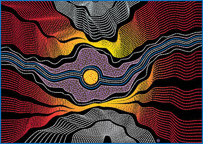 Painting - Aboriginal Landscape by Gary Grayson