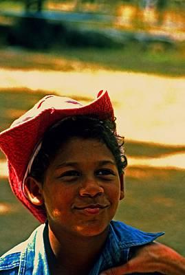 Photograph - Aborigine Boy by Gary Wonning