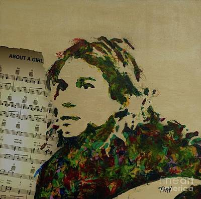 Mixed Media - About A Girl by Laura Toth