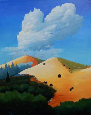 Painting - About Clouds by Gary Coleman