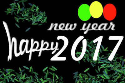 Green Digital Art - About New Year by Dani Awaludin