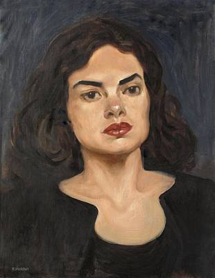 Painting - About Those Eyebrows by Robert Holden