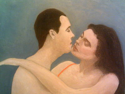 Painting - About To Kiss by Peter Gartner