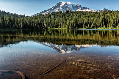 Photograph - Above And Below The Surface At Reflection Lake by Belinda Greb