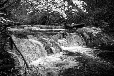 Nature Photograph - Above Bald River Falls In Black And White by Chrystal Mimbs
