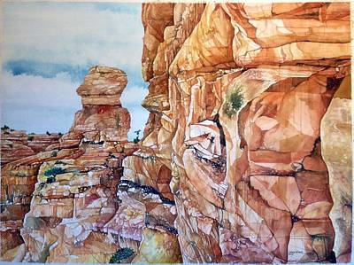 Painting - Above Canyonlands Campground by Lance Wurst