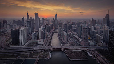 Photograph - Above Chicago by Josh Eral
