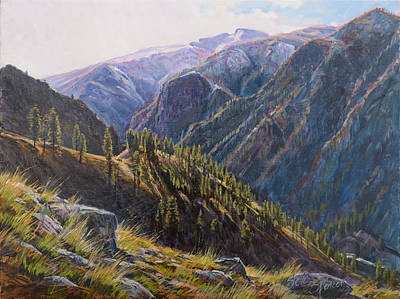 Painting - Above Cottonwood Creek by Steve Spencer