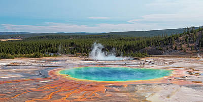 Photograph - Above Grand Prismatic Spring by Loree Johnson
