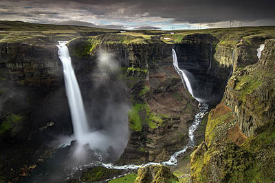 Photograph - Above Haifoss by Josh Eral