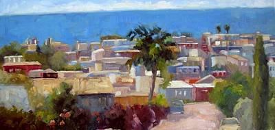 Malibu Painting - Above Manhattan Beach by Deborah Cushman