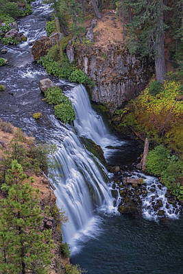 Above Middle Falls Art Print