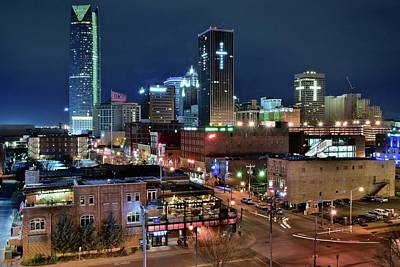 Photograph - Above Okc At Night by Frozen in Time Fine Art Photography