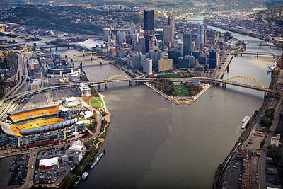 Photograph - Above Pittsburgh In  Color  by Emmanuel Panagiotakis