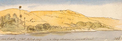 Drawing - Above Sabooa by Edward Lear